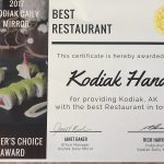 Best Restaurant in Kodiak 2017 !!!