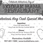 Valentine's Day at Kodiak Hana Restaurant!!